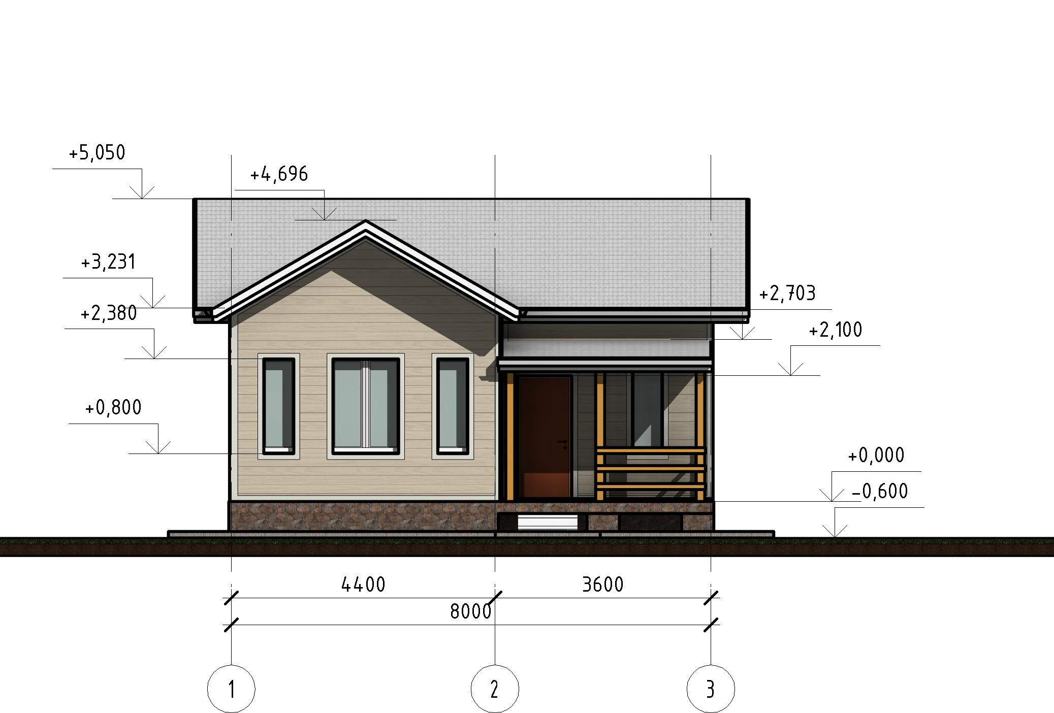 Проект КД-33 - Фасад 1-3