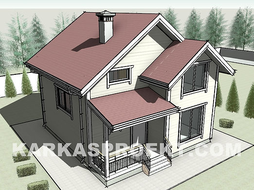 Каркасный дом 7,5х8 метров своими руками