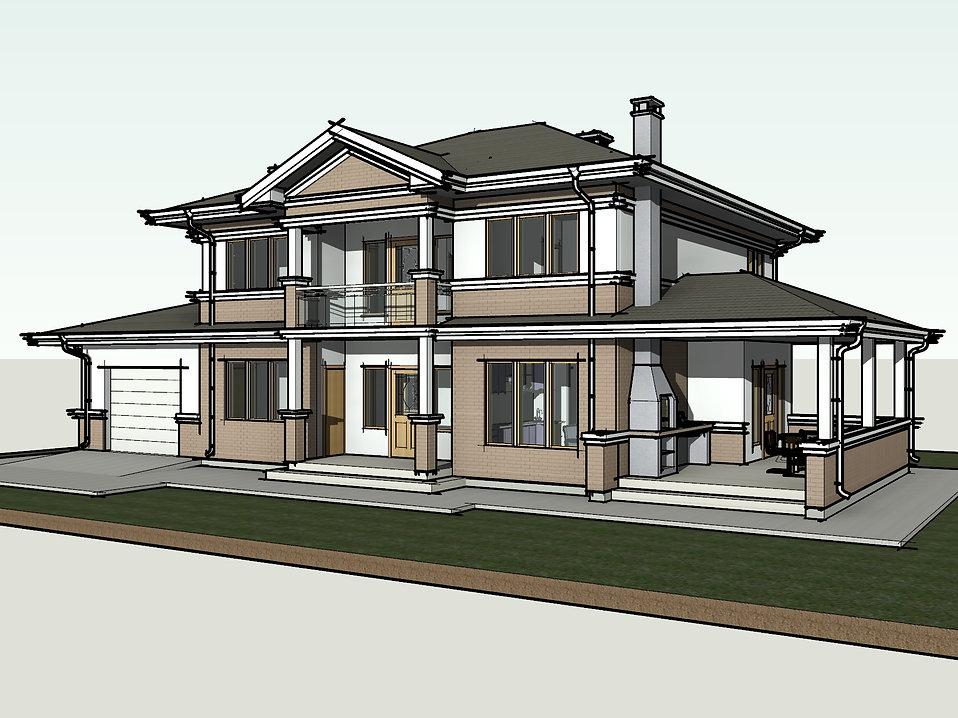 Проект каркасного дома размерами 7,5х8 метров для строительства своими руками