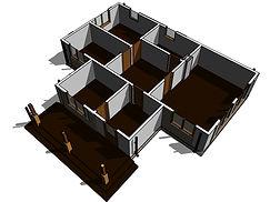 Планировка каркасного дома 9х12