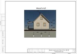 Готовый проект каркасного дома 6х7