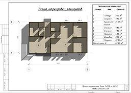 Планировка каркасного дома 7Х13