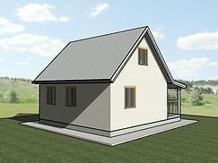 Общий вид каркасного дома 6х7