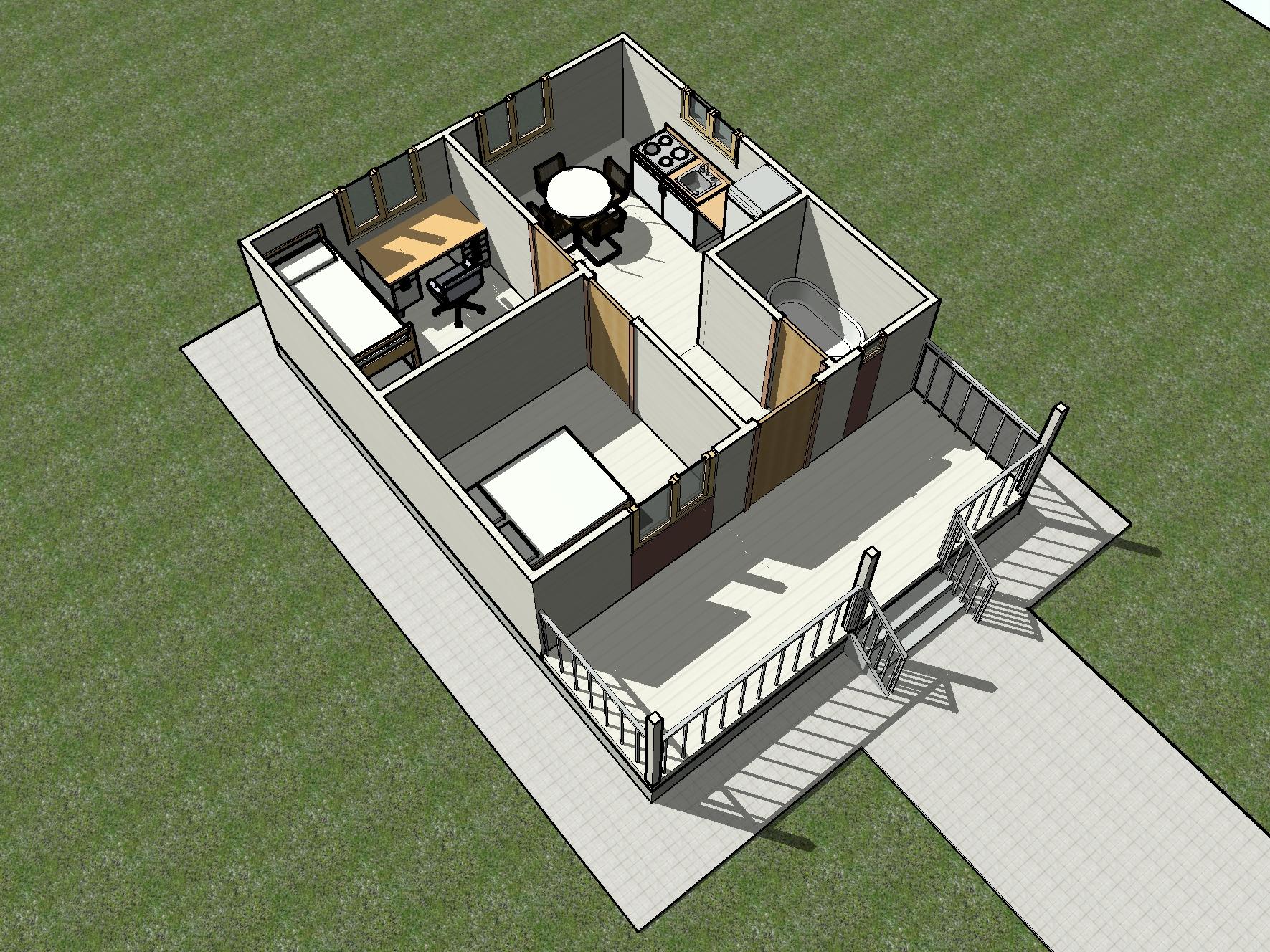 КД-15 - общий вид планировки дома