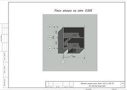 План первого этажа каркасного дома 5х5