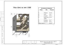 Готовый проект каркасного дома 6х6