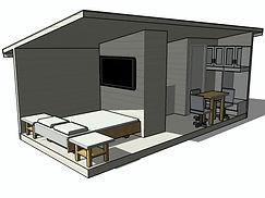 Разрез каркасного дома 6х3