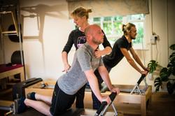 Male Pilates class   Lizzie Qualie professional pilates instructor