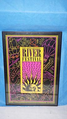 1991 Wichita Ks River Festival Poster