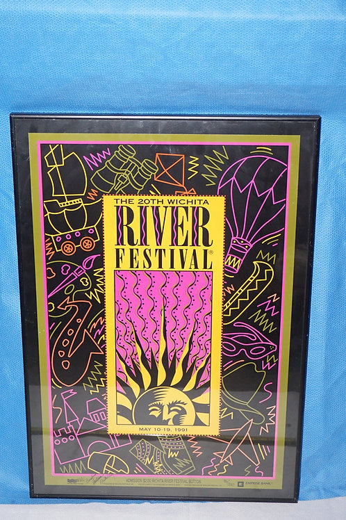 1991 Wichita Ks River Festival Poster