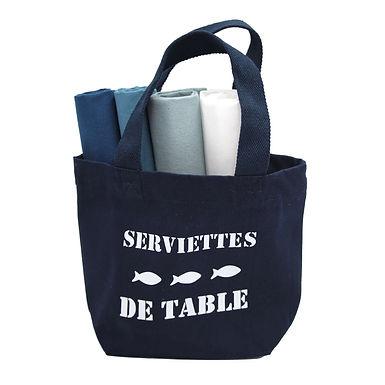 """Sac """"serviettes de table"""" + 4 serviettes en option"""