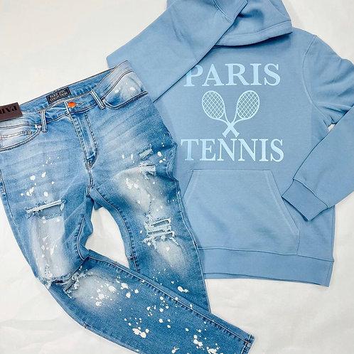 PARIS TENNIS CREW NECK  SWEATER