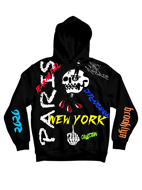 PARIS NEW YORK FEAR NO EVIL HOODIE