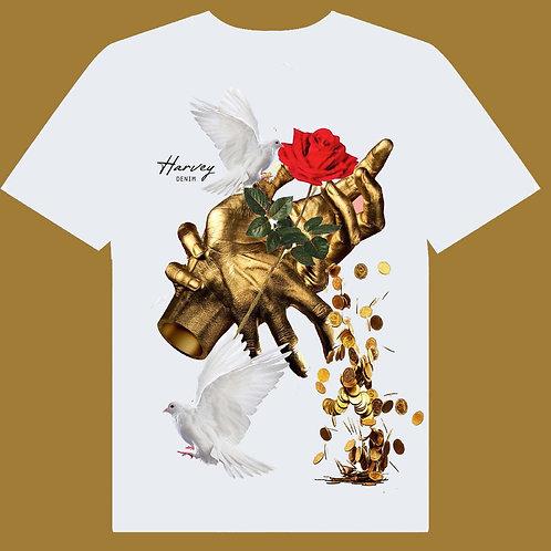 HARVEY DENIM GOLD HANDS TEE