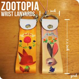 Zootopia wrist lanyard