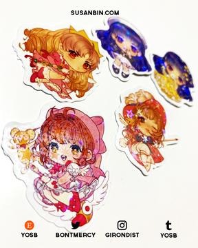 Cardcaptor Sakura holographic stickers