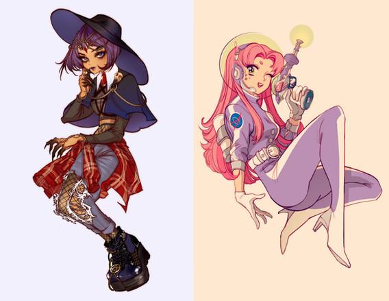 Goth Girl & Space Girl