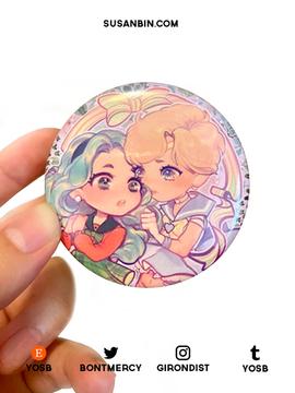 Sailor Moon Michiru and Haruka Button