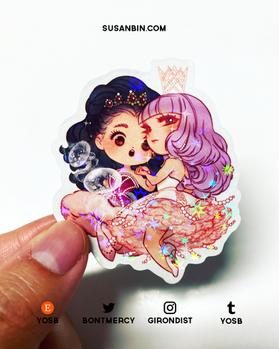 Holographic Princess Jellyfish sticker