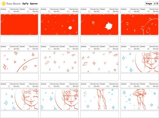 """SYFY """"Spacegirl Purikura"""" Boards 1/5"""
