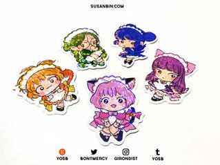 Tokyo Mew Mew holographic stickers