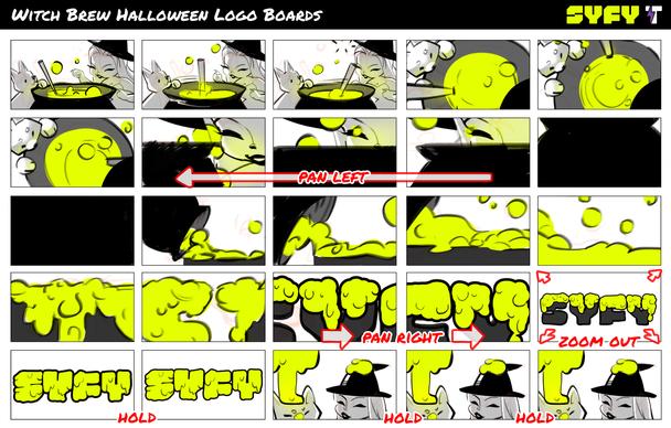 SYFY Halloween Logo Boards