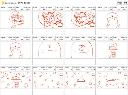 """SYFY """"Spacegirl Purikura"""" Boards 3/5"""