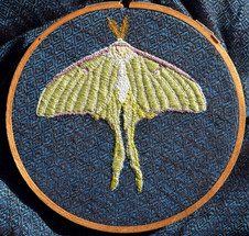 Embroidered Luna Moth