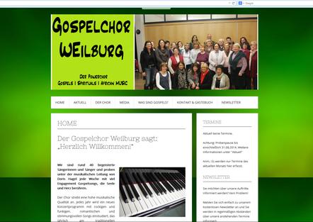 Gospelchor hat neue Homepage!