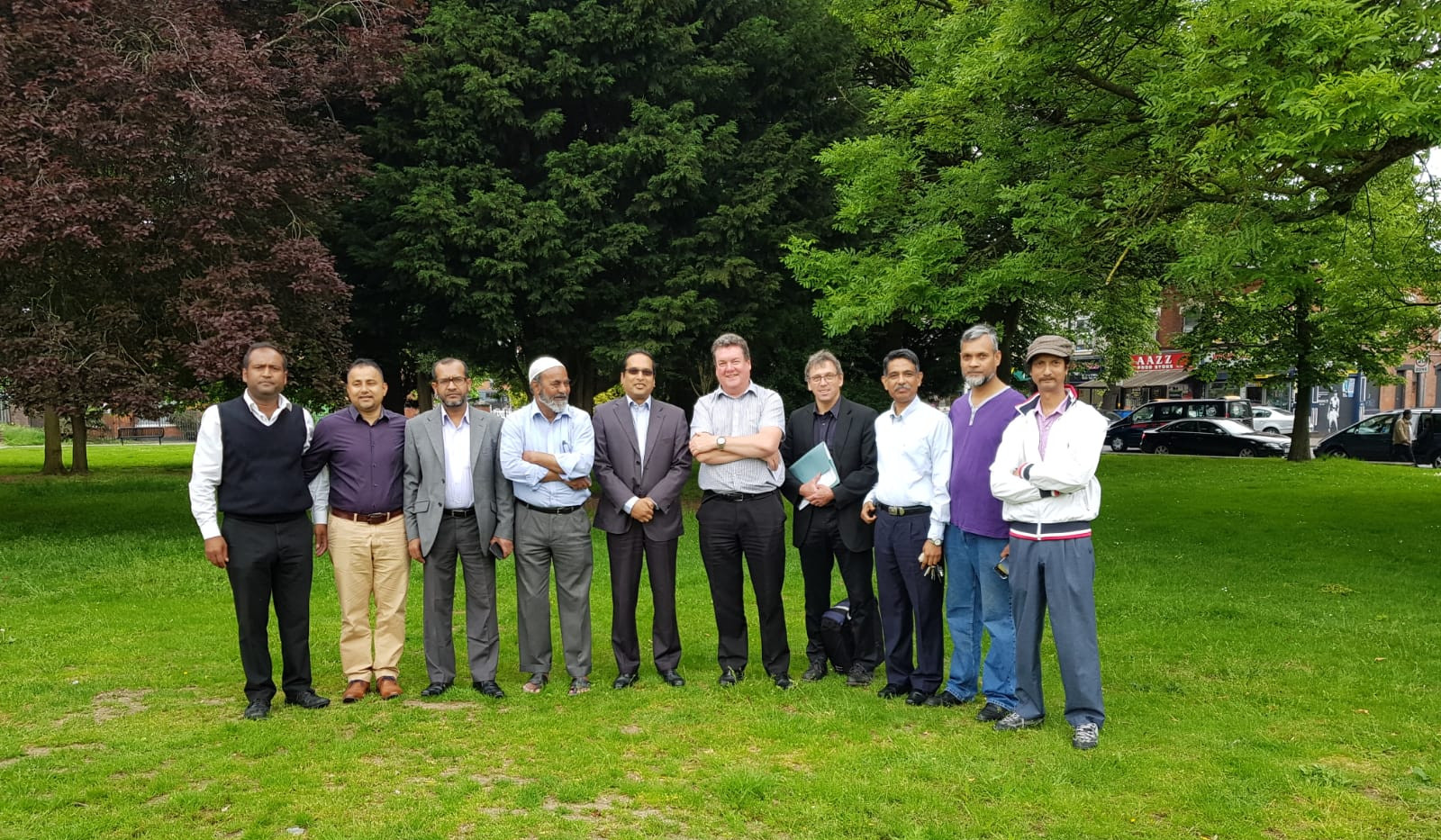 Assistant High Commissioner with the officials of Small Heath Park authority and member of Bangladeshi community in a topographical survey for the International Mother Language Monument.