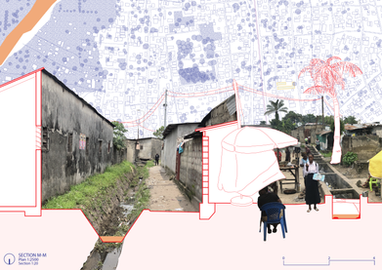 Diagrammatic Section and Collage, Kinshasa
