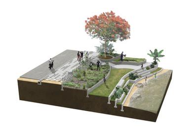 Rendering, Nature Based Solutions; Democratic Republic of Congo