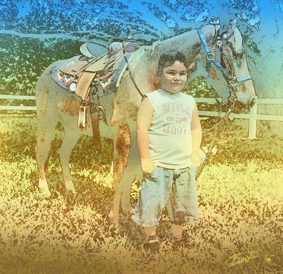 the boy & and the Pony 2
