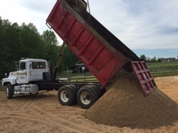 1 load of sand for pen