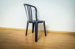 Bistrotstuhl blau
