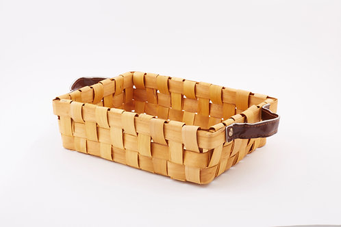 Rattan Storage Basket Small With Side Handles