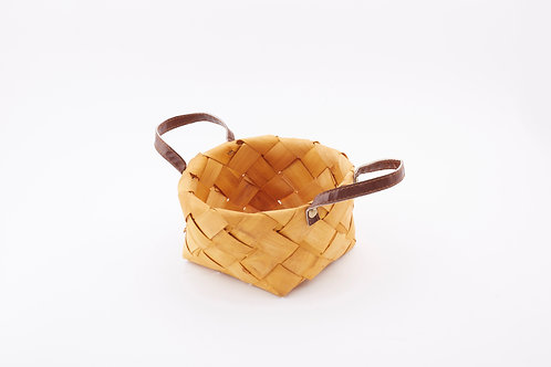 Rattan Storage Basket Round Small With Side Handles