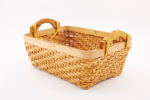 Rattan Storage Basket Cuboid With Side Handles