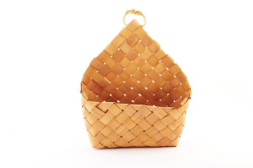 Rattan Storage Basket Elongated Triangular Back