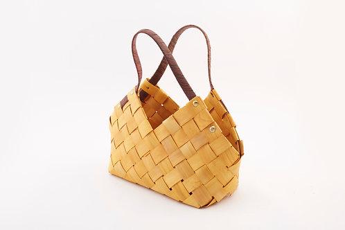 Rattan Storage Basket Small With Triangular Handles