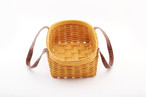Rattan Storage Basket Cuboid Large with Central Handles