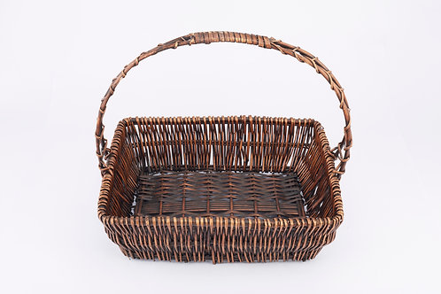 Full Willow Basket With Handle