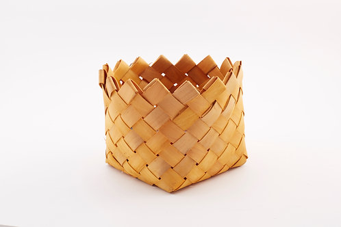 Rattan Storage Basket Triangle Ends Large