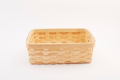 Rattan Storage Basket Cuboid without Handles