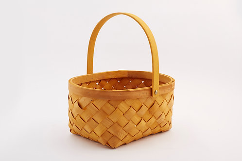 Rattan Storage Basket Medium With Center Handle