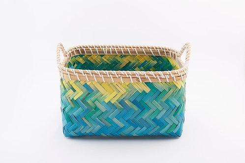 Bamboo Rectangle Basket Small