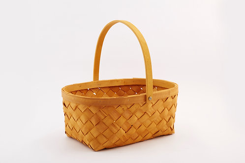 Rattan Storage Basket Large With Center Handle