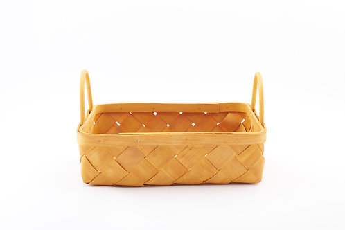 Rattan Storage Basket Wide Large With Side Handles
