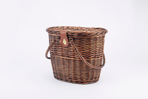 Willow Picnic Basket For 2 With Crockery