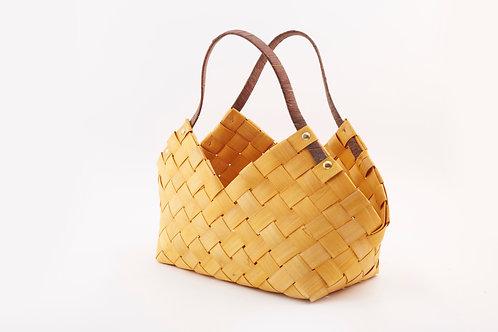 Rattan Storage Basket Medium With Triangular Handles